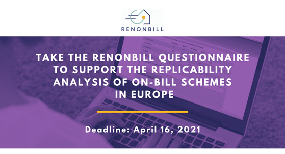 RenOnBill calls on energy utilities and financial institutions to fill in a questionnaire helping on-bill replicability
